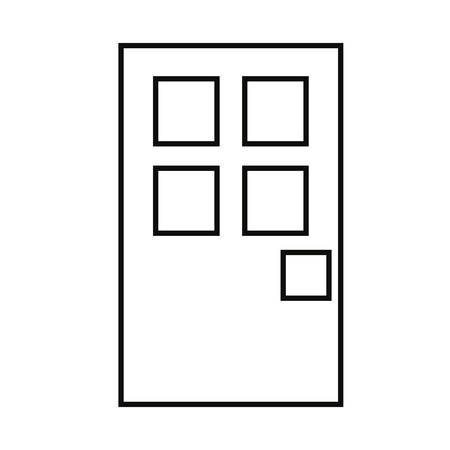 outlined door entrance on white background vector illustration Illustration