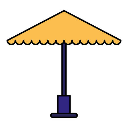 parasol icon over white background, vector illustration
