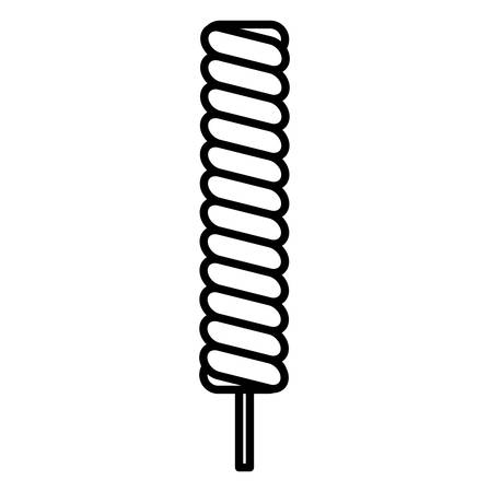 candy stick icon over white background, vector illustration