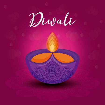 candle diwali festival isolated icon vector illustration design