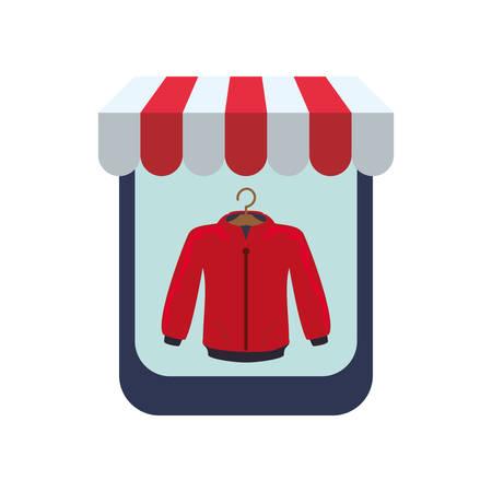 store window showcase icon vector illustration design