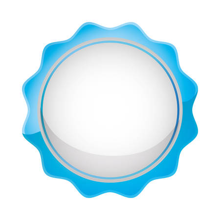 circle lace seal icon vector illustration design Ilustração