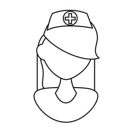 beautiful nurse medical character vector illustration design