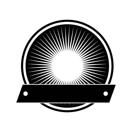 circle seal stamp with ribbon vector illustration design