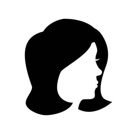 head woman silhouette icon vector illustration design