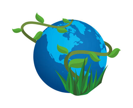 world planet earth space icon vector illustration design