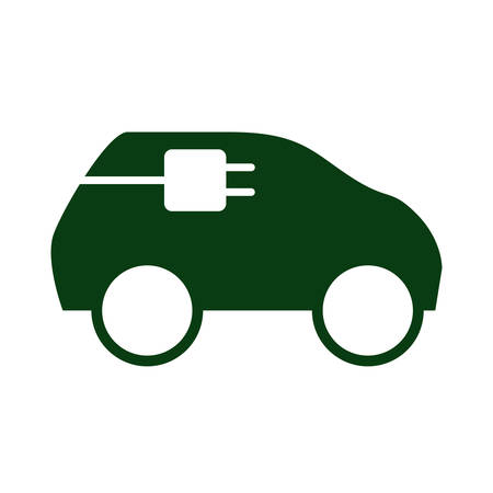 ecology electric car icon vector illustration design