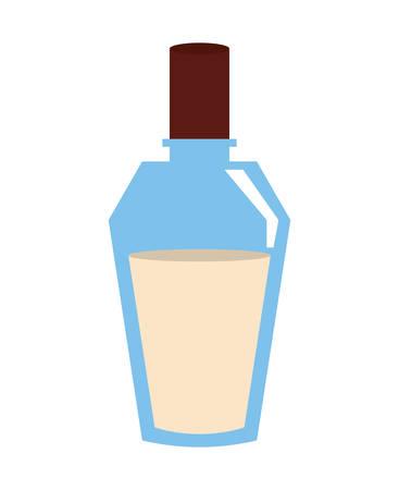 disegno dell'illustrazione di vettore della bottiglia di vetro dell'olio della spa