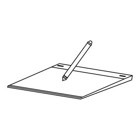 tablette et stylo électronique vector illustration design Vecteurs