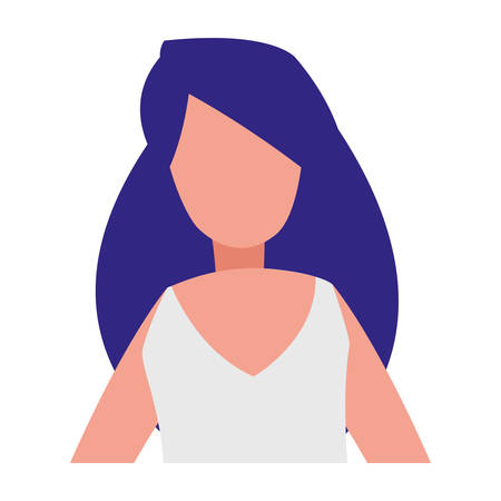 young woman modeling character vector illustration design 矢量图像
