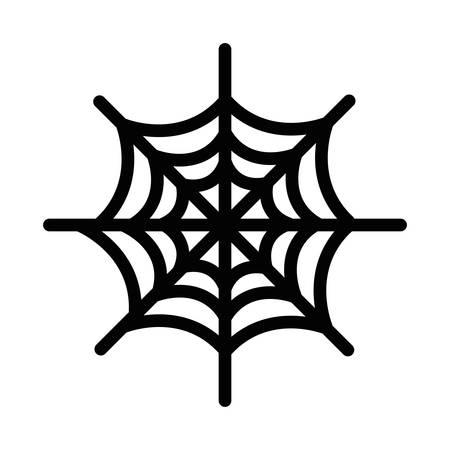 happy halloween spiderweb icon vector illustration design