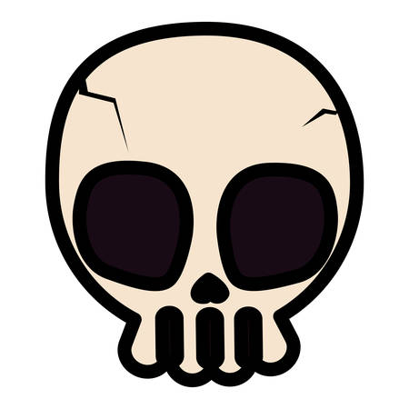 happy halloween skull icon vector illustration design