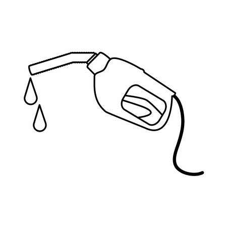 gasoline dispenser gun icon vector illustration design