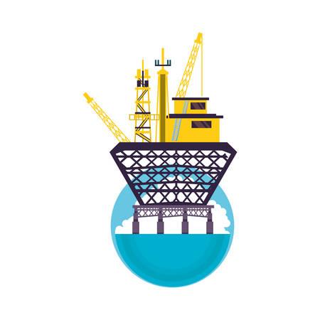 marine oil platform icon vector illustration design