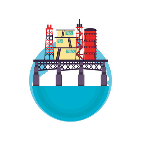 marine oil platform icon vector illustration design