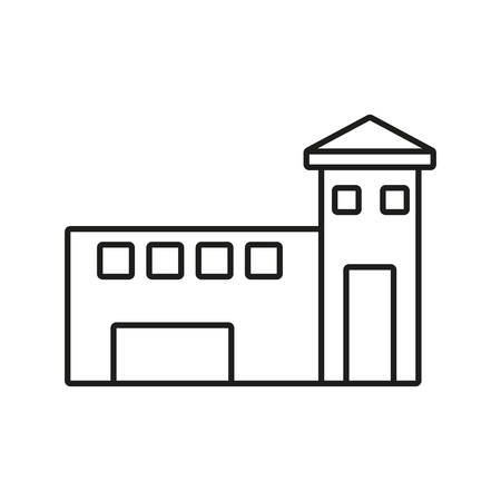 building university isolated icon vector illustration design Illustration