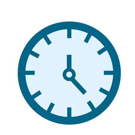 clock time on white background vector illustration Illustration