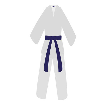 karate suit icon over white background, vector illustration Illustration