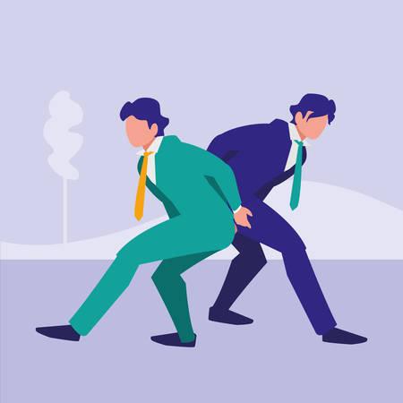 Businessmen with suit design, Management corporate occupation and job theme Vector illustration Standard-Bild - 111744476