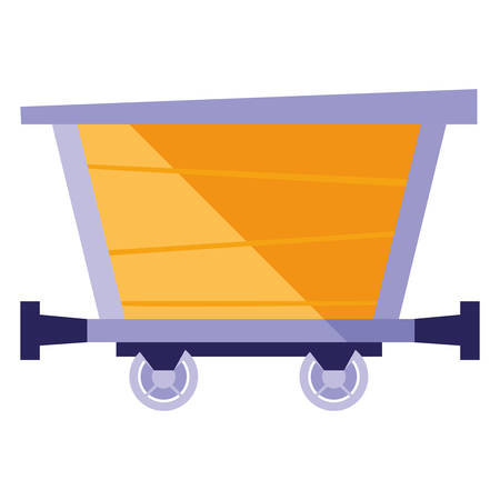 Mine wagon over white background, vector illustration Ilustracje wektorowe