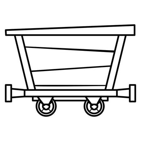 Mine wagon over white background, vector illustration 写真素材 - 111754089