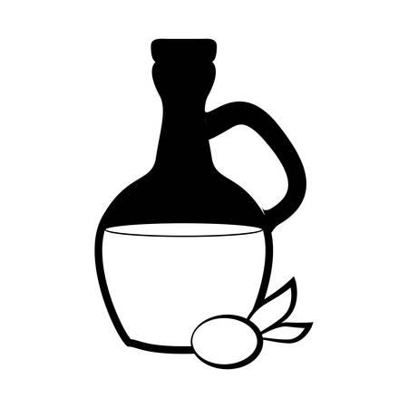 spa oil glass vbottle vector illustration design
