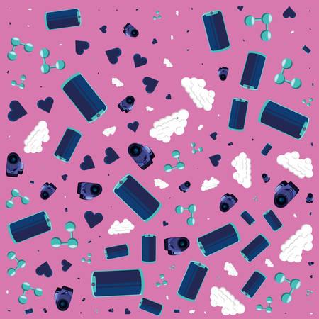 social media technology pattern background vector illustration design