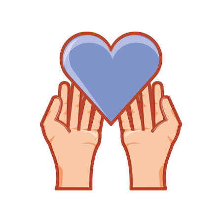hands with heart love isolated icon vector illustration design Illustration