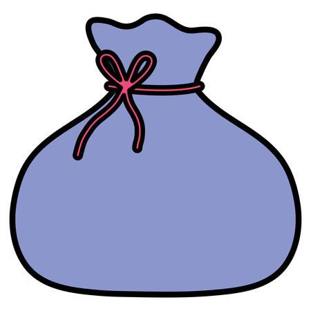 bag icon over white background, vector illustration