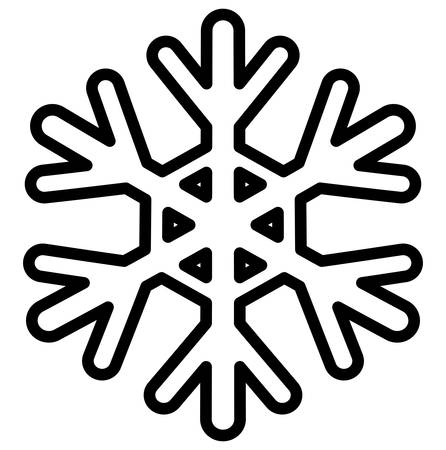 Snowflake icon over white background, vector illustration Stock Illustratie