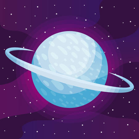 planet space universe icon vector illustration design