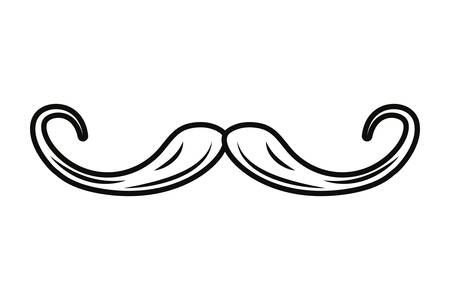 moustache hipster on white background vector illustration