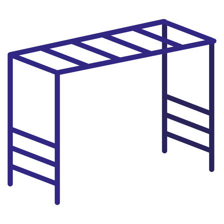 monkey bars over white background, vector illustration Illustration