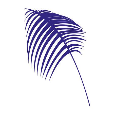 tropical leaf icon over white background, vector illustration Illustration