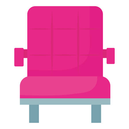 cinema chair icon over white background, vector illustration