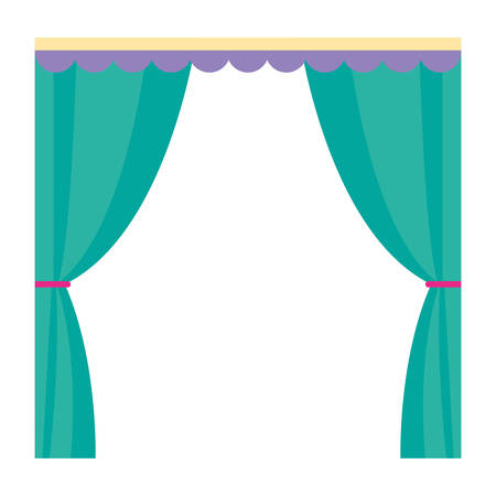 Curtains over white background, vector illustration