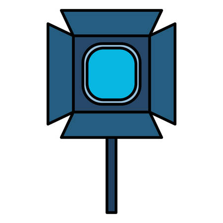 studio lamp icon over white background, vector illustration