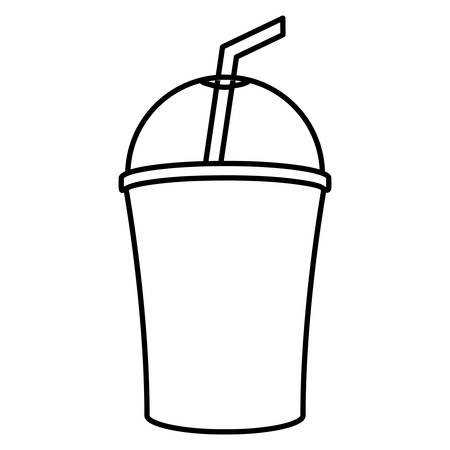 Drink cup icon over white background, vector illustration