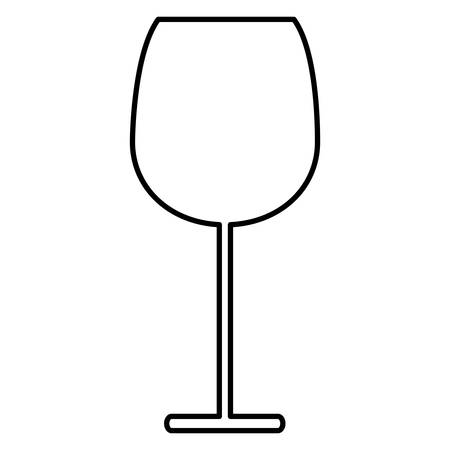 empty champagne glass over white background, vector illustration Illusztráció