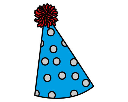 party hat icon over white background, vector illustration