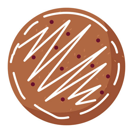 christmas cookie icon over white background, vector illustration