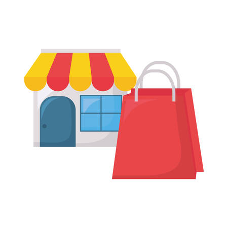 online shopping commerce market bag