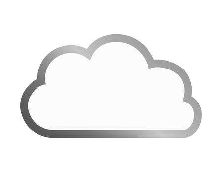 ecology cloud green icon vector illustration design