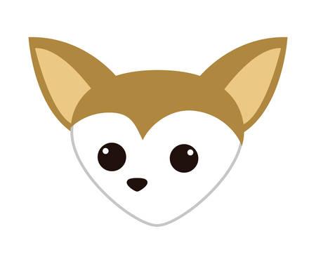 cute miniature chihuahua head vector illustration design