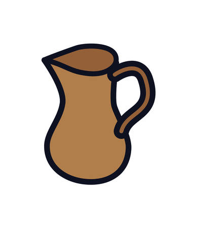 teapot jar isolated icon vector illustration design  イラスト・ベクター素材