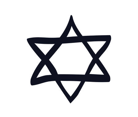 jewish star isolated icon vector illustration design Çizim