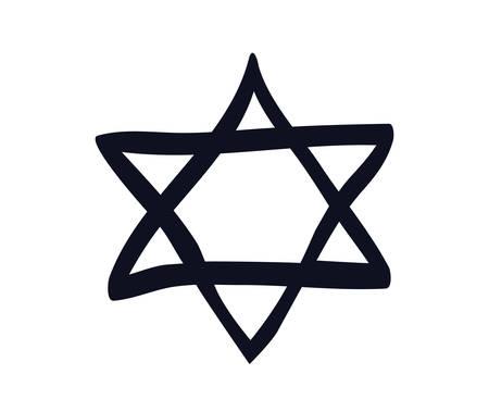 jewish star isolated icon vector illustration design Illustration