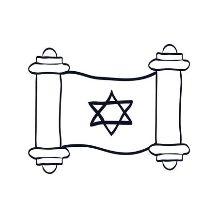 parchment of Jewish law vector illustration design