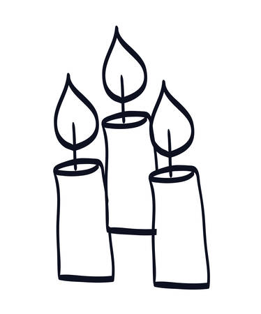 candles church isolated icons vector illustration design Çizim