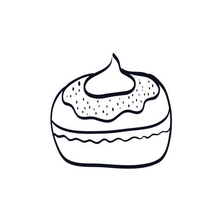 delicious cupcake sweet icon vector illustration design